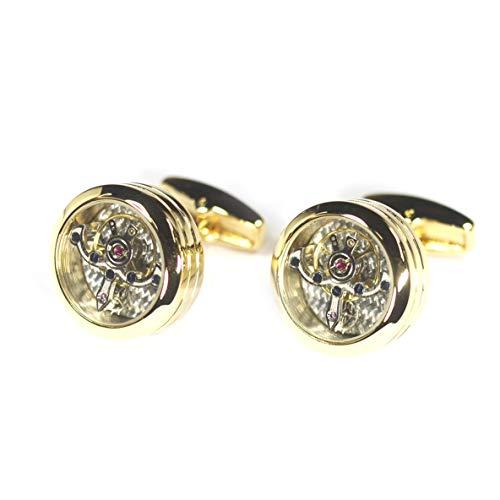 Libartly Kflk Jewelry Cuff Button Gemelos para Hombre Reloj De Marca Mecánico Tourbillon Movimiento Gemelos Oro