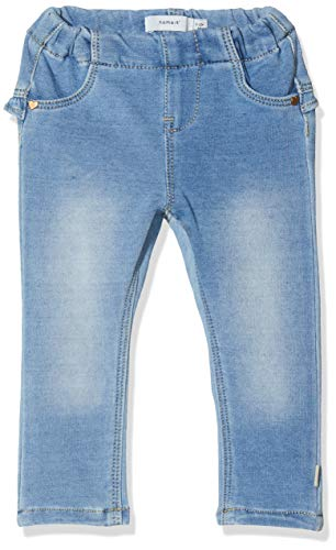 NAME IT NOS Baby-Mädchen NBFTHEA DNMTORINA 1321 SWE Legging NOOS Jeans, Blau (Light Blue Denim Light Blue Denim), (Herstellergröße: 86)