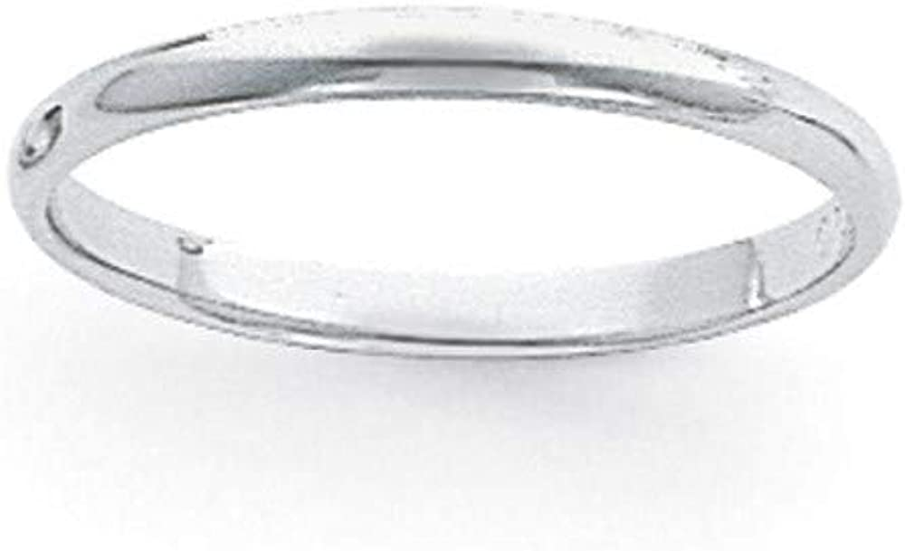 Platinum 3mm Half Round Featherweight Wedding Ring Band Classic Domed Fashion Jewelry For Women Gifts For Her