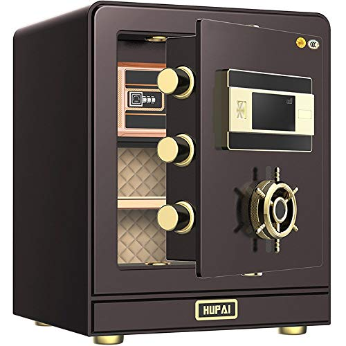 Digitale Safe Box Kluis Slimme 3C Gecertificeerde Kluis Thuis Klein Veilig Kantoor Staal 50 cm Hoog Cash Box voor Thuis