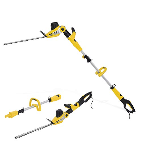 Powerplus 2 in 1 Hand Held & Telescopic 510mm Long Reach Garden Hedge Trimmer 750 Watt with Adjustable Head POWXG2042 - 3 Year Home User Warranty