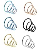 LOYALLOOK 18-24Pcs 20G 316L Stainless Steel...