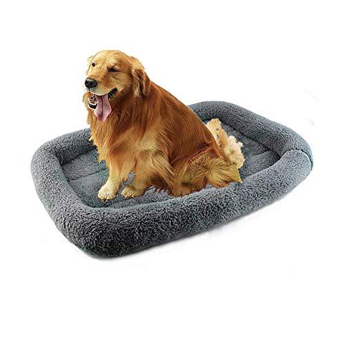 Wuudi Cama para perros grande para mascotas, cama para perros grandes, cojín de sofá para perros, cojín lavable con funda extraíble, relleno de algodón suave, sofá acolchado calmante