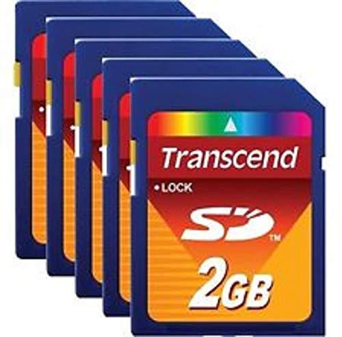 Transcend S2GSDC Speicherkarte, 2 GB, 25 Stück
