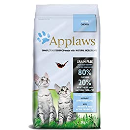 Applaws Complete Natural and Grain Free Dry Kitten Cat Food with Chicken, 2 kg Bag (Pack of 1)