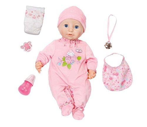 Zapf Creation - Baby Annabell weiche Babypuppe mit vielen lebensechten Funktionen mit Schlafaugen und Zubehör, inklusive 1 rosa Strampler und 1 Mütze, geeignet ab 3 Jahren, rosa, 43 cm.