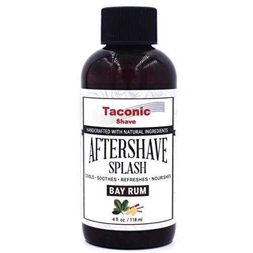 Taconic Shave Bay Rum Splash Après-rasage - Formule de refroidissement - Artisan Made in USA