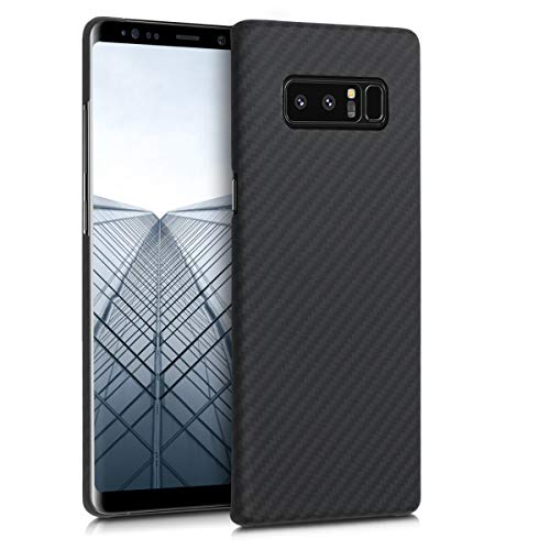 kalibri Samsung Galaxy Note 8 DUOS Hülle - Aramid Handy Schutzhülle - Cover Case Handyhülle für Samsung Galaxy Note 8 DUOS - Schwarz matt