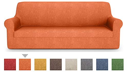 PETTI Artigiani Italiani Sofa-Überwürfe, Orange, 3 Sitzer(170 bis 210 cm)