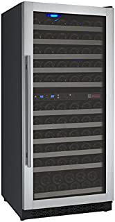Allavino Flexcount VSWR121-2SSRN 121-Bottle Two Zone Wine Cooler Refrigerator with Right Hinge