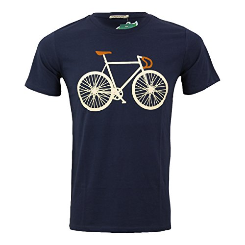 Greenbomb Männer Fahrrad T-Shirt Bike Two dunkelblau - XXL