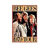 Bee Gees Rockband Poster Vintage Musik Poster Dekorative