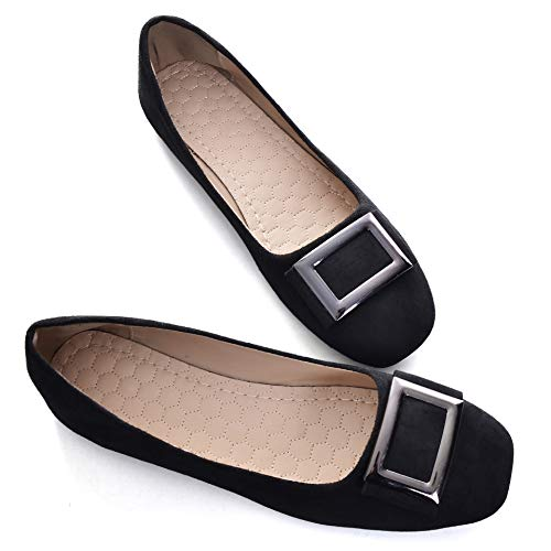 Top 10 best selling list for square buckle flat shoes