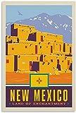APAZSH Laminas para Cuadros Poster de Viaje Poster de Nuevo México Poster de Arte en Lienzo y Poster de Decoracion de impresión de Cuadros artística de Pared 60x90cm x1 Sin Marco