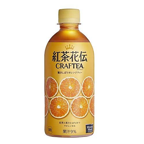 コカ・コーラ 紅茶花伝 クラフティー 贅沢しぼりオレンジティー 440mlPET ×24本