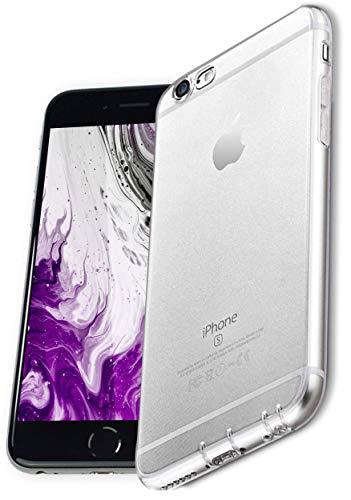 COVERbasics Cover compatibile con iPhone 6 / 6s (PROCAM 0.33mm) Custodia Trasparente in Silicone Anti Ingiallimento ed Anti Graffio con Protezione Fotocamera e Tappi Antipolvere