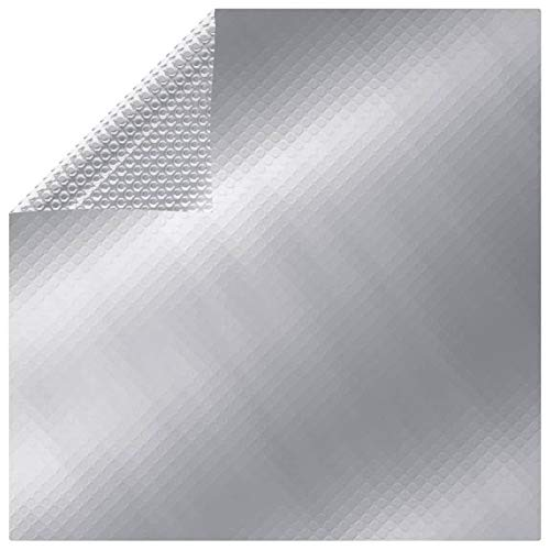 Tidyard Poolabdeckung Pool-Solarplane Pool-Solarfolie Solarabdeckung Solarfolie Poolheizung Wärmeplane Silbern 300x200 cm PE