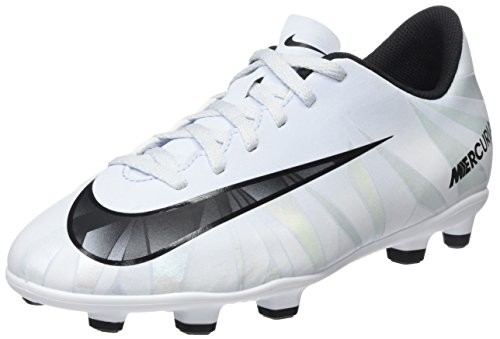 Nike Jr Mercurial Vortex III Cr7 Fg, Scarpe da Calcio Unisex-Bambini, Bianco Teinte Bleue Blanc Teinte Bleue Noir, 25 EU