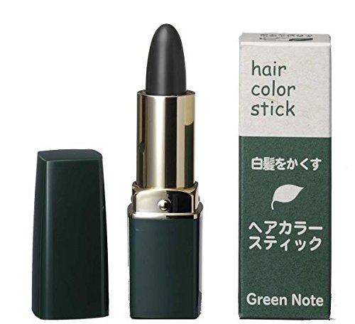 天然由来成分100%自然派の白髪隠し グリーンノート ヘアカラースティック ブラック 4g 6セット