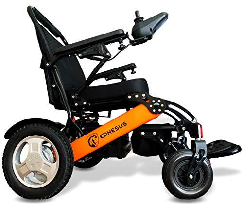 Heavy Duty & Lightweight Electric Wheelchair, Foldable and Portable Wheelchair, Dual Battery and Motor Long Range