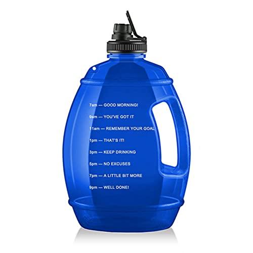 Lixada 漏れ防止3.78Lスポーツウォーターボトルタイムマーカー付きスポーツボトル