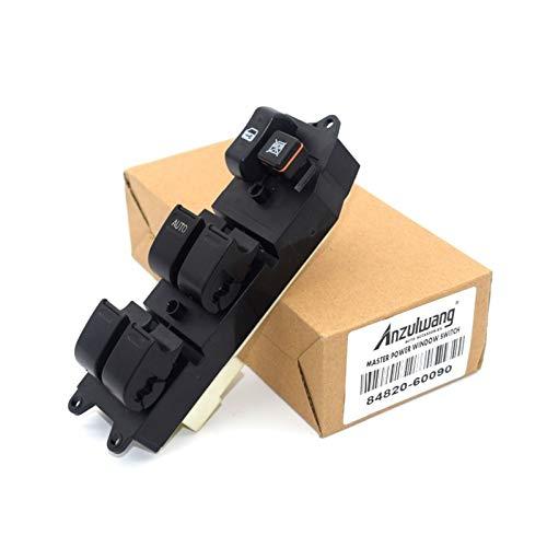 Fangaichen Interruptor de Control Maestro Levantador de Ventanas eléctricas 84820-60090 8482060090 para Toyota Echo Yaris T.U.V 4RUNNER HILUX Land Cruiser Adecuado para el Coche