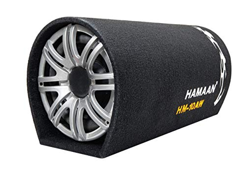 Hamaan HM-10AW 10-inch Active Bass Tube Subwoofer with inbuilt Amplifier