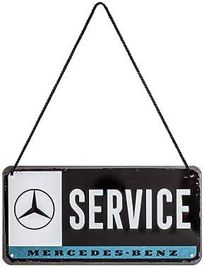 Nostalgic-Art, Plaque à suspendre, Mercedes-Benz Service – Idée de cadeau pour les fans d'automobiles, en métal, Déco des