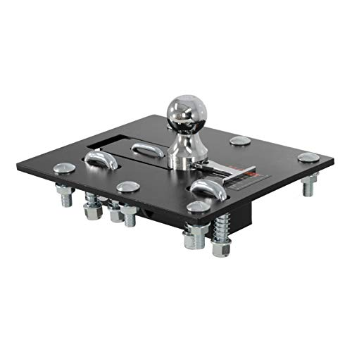 CURT 61052 Black, 2-5/16-Inch Bed Folding Gooseneck Hitch (30,000 lbs. GTW, 2-5/16' Ball, Installation Brackets Sold Separately)