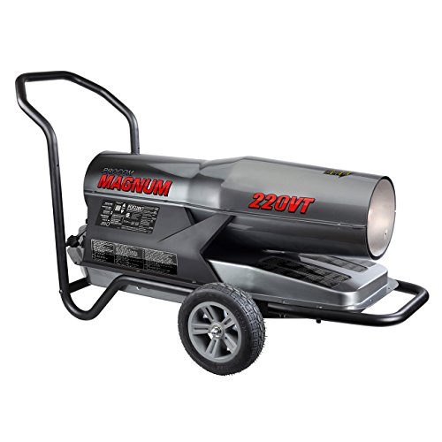 ProCom Heating PCK220VT MAGNUM Kerosene Forced Air Heater-160,000-220,000, Multifuel, 220,000 BTU, Black
