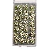 Sharplace Simulación DIY Racimos de Flores en Miniatura Mini Modelo estático Ferrocarril Jardín Arquitectura Paisaje Materiales de construcción Diorama Paisaje - Rosado