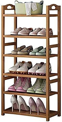 Estante de zapatos Zapatero zapatero 6 Nivel Self Supporting zapato de madera Bastidores, almacenamiento de zapatos, zapato estante de exhibición de unidad de almacenamiento de soporte del estante del