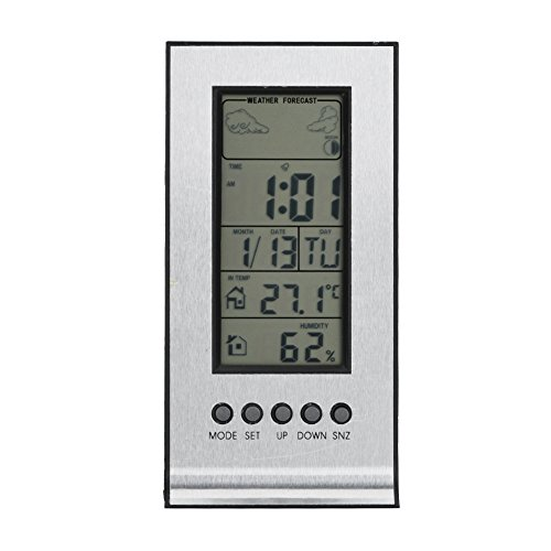 LCD Digitale Hygrometer Indoor Thermometer Vochtigheid Monitor, Draadloze Weersverwachting Station, Digitale Kalender Dagklok, Digitale Barometer