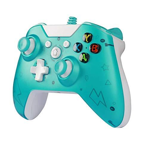 LRHD Controlador cableado USB Controle para Xbox One Slim Console Dual Vibration Manden Gamepad para PC Joystick para Win7 / 8/10 Controlador con Cable Dual Vibration Shock Game Manija