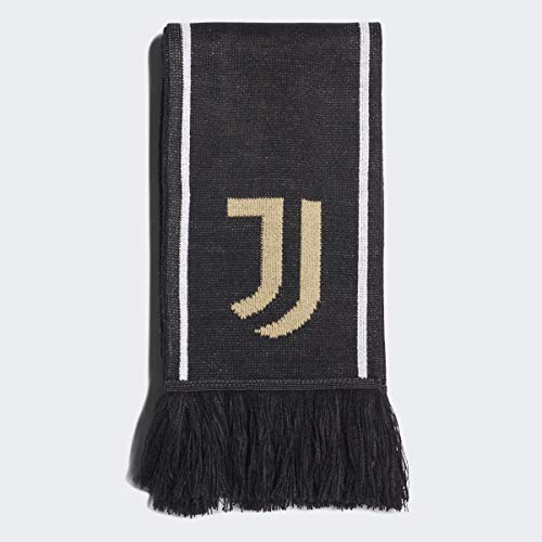 adidas unisex-adult Juventus Scarf Black/White/Pyrite OSFM