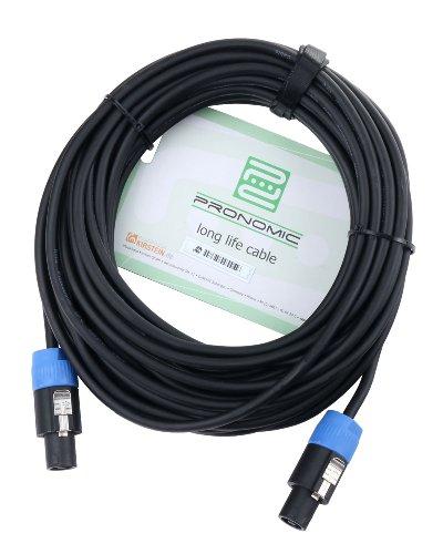 Pronomic BOXSP1-10 Lautsprecherkabel DJ PA Boxenkabel (Professionelles Boxenkabel, Speakon kompatibel, Länge 10m, säure- und ölfest, Spannzangen-Zugentlastung)