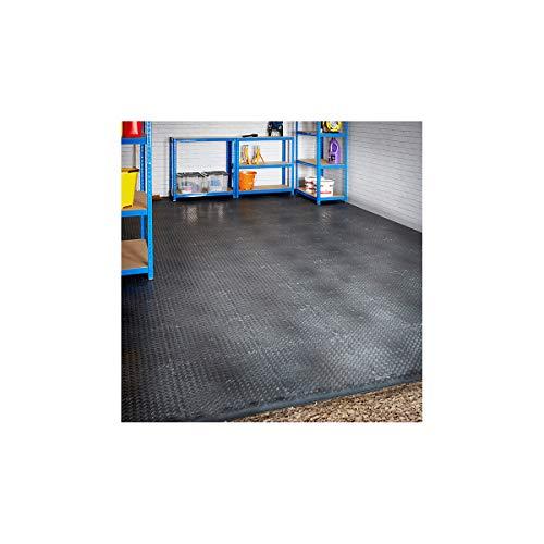 Mega Deal - PVC Garagenboden + Rampen 3 x 6m (Einzelgarage) - Geriffelt - Schwarz - Certeo -