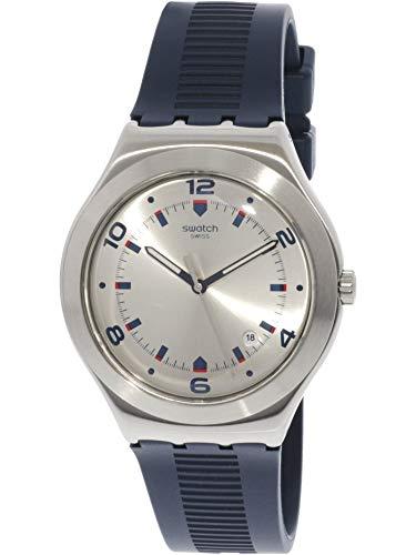 Swatch Brut De Bleu YWS431 Reloj de Cuarzo de Caucho Plateado para Hombre