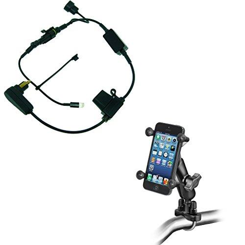Buybits Motorrad mit Hohe Energie Hella LADER & Fahrradlenker-Halterung für Iphone X
