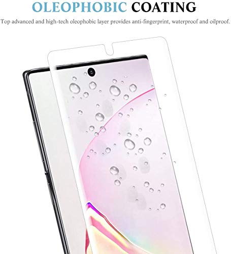 apiker 4 Pack Screen Protector Compatible with Samsung Galaxy Note 10 Plus, Soft TPU Film Support Fingerprint Sensor