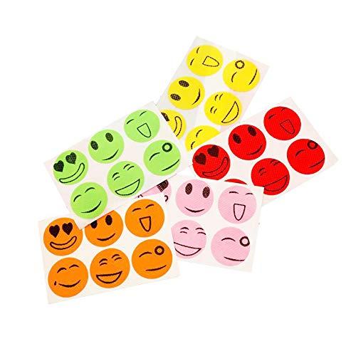 IWILCS 40 Piezas de Parches repelentes, Pegatinas Adhesivas sonrientes, Pegatinas repelentes, para niños, Actividades veraniegas para Adultos al Aire Libre, Familia, Camping, (Colores aleatorios)
