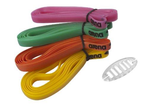arena Unisex Ersatz Kopfbänder für Wettkampf Schwimmbrillen (4 Farben, Einfache Anbringung), Multicolour (10), One Size