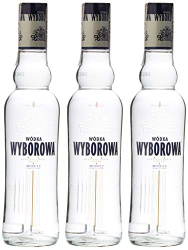 Wyborowa Vodka Pack de 3 botellas, 3 x 350 ml