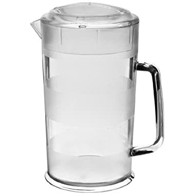 Cambro PC64CW 64 oz Capacity, Camwear Clear Polycarbonate Covered Pitcher