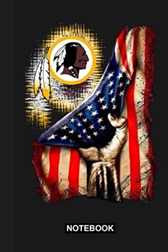 Notebook: Redskins American Flag Notebook & Journal   NFL Fan Essential   Washington Redskins Fan Appreciation