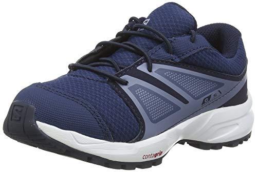 Salomon Kinder SENSE CSWP K Trail Running Schuhe, Farbe: blau (Sargasso Sea/Navy Blazer/Flint Stone), Größe: EU 29