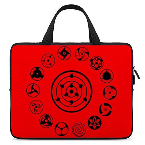 Naruto Sharingan portátil impermeable portátil Tablets Bolsas para hombres y mujeres en una selección de cinco tamaños 10 12 13 15 17 pulgadas 17 pulgadas