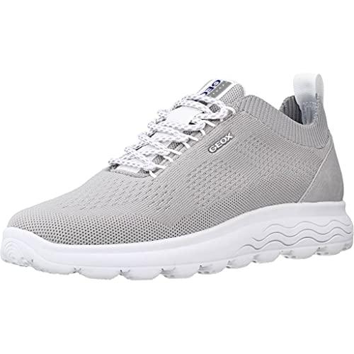 GEOX D15NUA0006K - Zapatilla Tecnica Light Grey para Mujer Color: Light Grey Talla: 38