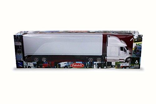 New Ray SS-15553D 1: 43 Long Haul Trucker - Peterbilt Model 387 (Plain White)