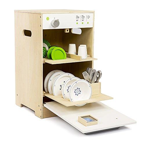 Geschirrspüler in Holz - Abmessungen: 60 x 30 x 50 - Praktische Tür und herausnehmbare Tabletts (Zubehör nicht im Lieferumfang enthalten) ...